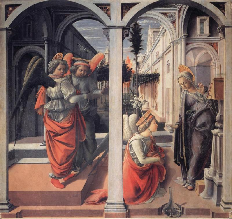 Fra Filippo Lippi The Annunciation